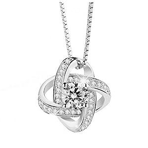 HaoChen & Europäische und amerikanische Schmuck s925 Sterling Silber, Swarovski Kristall Halskette Anhänger