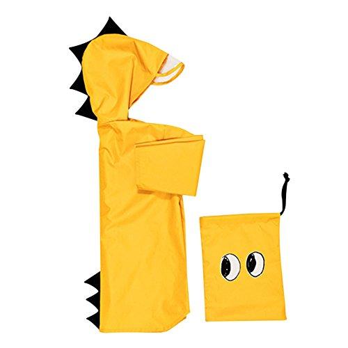 Kinder Regenmantel Wasserdicht Regenponcho Cartoon Regenbekleidung wiederverwendbar Regenjacke mit Kapuze Regenwetter Süß Kleinkind Wasserdicht Jacke Schutz für Unisex Mädchen Jungen(L/XL/XXL)Outdoor