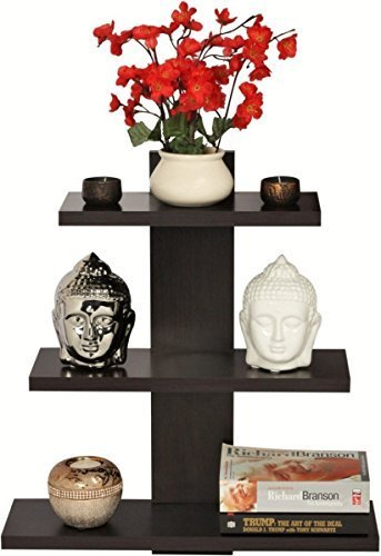 Artesia Wooden Tree Shape Wall Shelves Brown