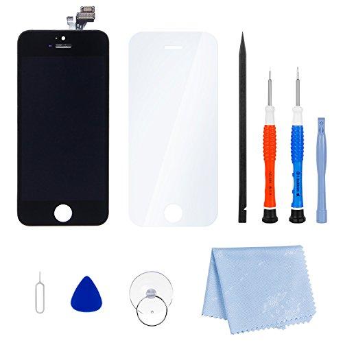 SGILE iPhone 6 LCD Bildschirm Ersatz Digitizer Kit mit Rahmen Komplett montiert (SCHWARZ) (Iphone 6-bildschirm Und Digitizer)
