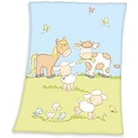 Herding 144056014 Babydecke Fynn, Größe: 75 x 100 cm,  100 % Polyester / Microfaserflausch