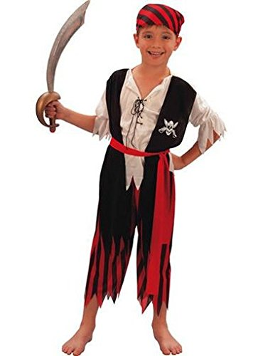 Dress Pirate Kostüm Fancy - Fyasa 701242-t02 Pirate Boy Fancy Dress Kostüm, schwarz/weiß, Größe M