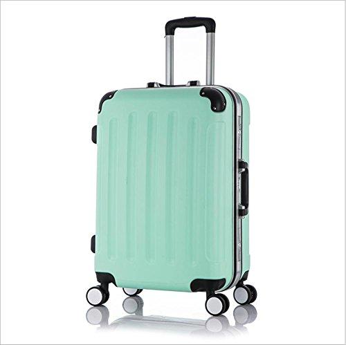 Xiuxiandianju 20 pollici universale ABS Rod custodia impermeabile resistente bagaglio di viaggio (diversi SuitcaseColour) Green