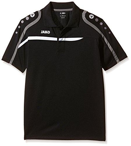 JAKO Kinder Polo Shirt Performance Schwarz/Weiß/Grau