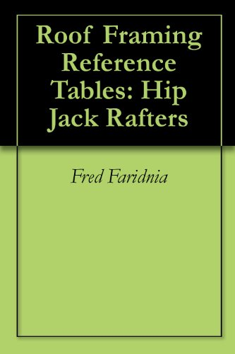 Roof Framing Reference Tables: Hip Jack Rafters