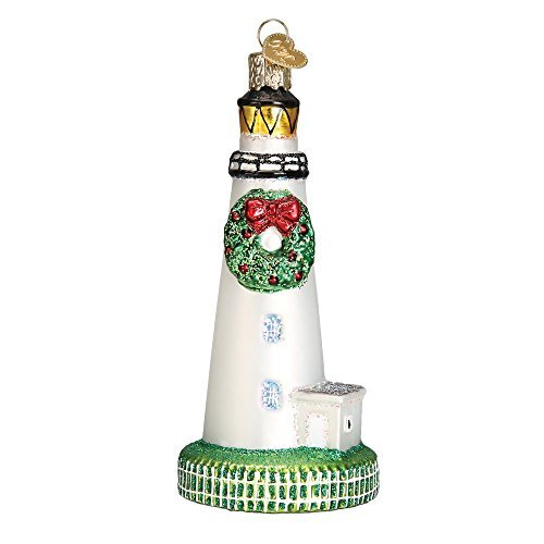 Old World Christmas Ocracoke Lighthouse Glass Blown Ornament by Old World Christmas -