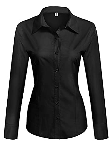 HOTOUCH Ladies' Classic Wrinkle-Free Long-Sleeve