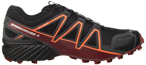 Salomon Speedcross 4 Cs, Chaussures de Trail Homme Multicolore (Black/magnet/red Dalhia)
