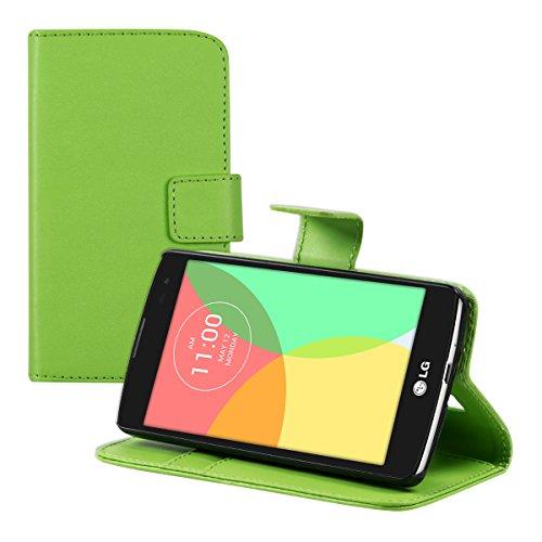 kwmobile LG L Fino Hülle - Kunstleder Wallet Case für LG L Fino mit Kartenfächern und Stand