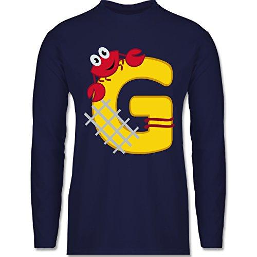 Anfangsbuchstaben - G Schifffahrt - Longsleeve / langärmeliges T-Shirt für Herren Navy Blau