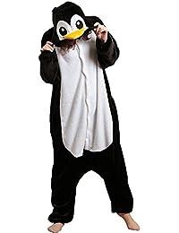 Kenmont Novedad Pijama Juguetes y Juegos Animal Ropa de dormir Cosplay Disfraces Pijamas para Adulto Niños (Small, Pingüino)