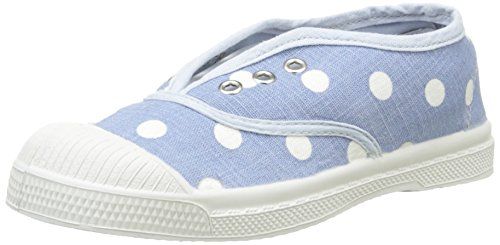 Bensimon Elly Pastel Pastilles, Baskets Basses Mixte Enfant, Bleu (532 Bleu), 35 EU