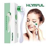 HOMFUL Dermaroller 0.5mm mit Titanlegierung 540 Nadeln zur Narbenbildung bei Akne, Faltenentfernung, Hautpflege...