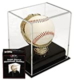 CRICKET BALL OR BASEBALL GOLD GLOVE DISPLAY CASE