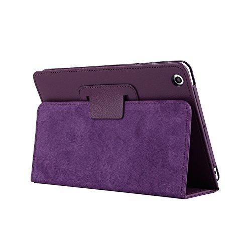 TechCode iPad 2 Hülle Mini, iPad Fall Mini 3, Premium Folio Hülle Bucheinband Design Multi Angle Viewing Slim Fit Ultraleichte Hülle Smart Case Hülle für iPad Mini 1/2/3 (Lila) (Lila 2 Fall Ipad)