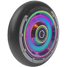 Equipo Dogz núcleo RAINBOW UFO hueca de 110mm rueda para patinete–negro PU ABEC