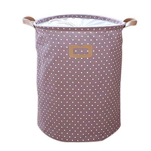 Dergtgh Dot Wäschekorb-Beutel-Kleidung Storage Baskets Startseite Kleidung Barrel Kinder Spielzeug-Speicher-Wäsche-Container -
