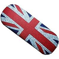Distressed - Custodia per occhiali da vista con bandiera Union Jack, con panno per pulizia molto morbido, souvenir di Londra, GB e Regno Unito, un ricordo indimenticabile, porta occhiali