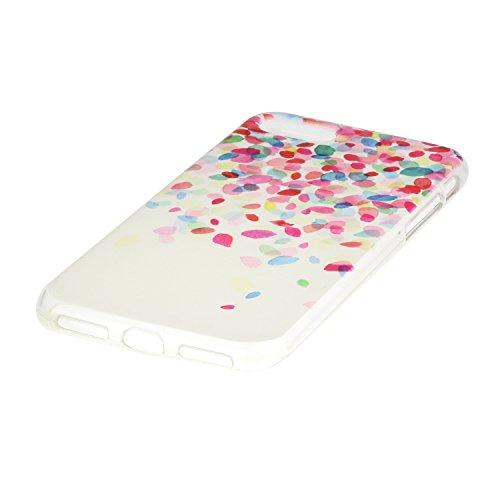 iPhone 7 Coque, Voguecase TPU avec Absorption de Choc, Etui Silicone Souple, Légère / Ajustement Parfait Coque Shell Housse Cover pour Apple iPhone 7 4,7 (chat blanc)+ Gratuit stylet l'écran aléatoire CJ