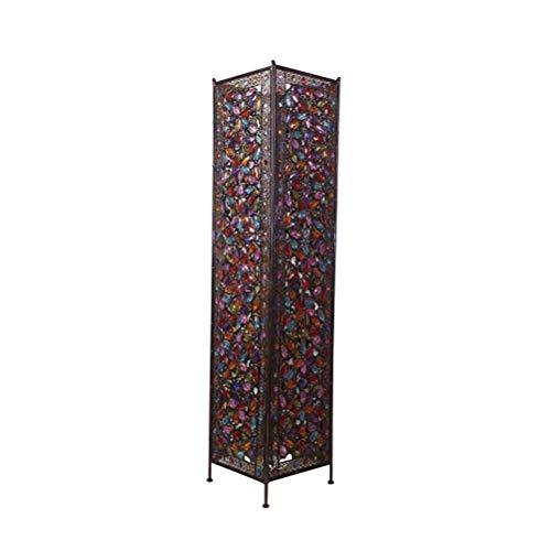 ⛔ Große eiserne marokkanische Stehleuchte Stilvolle Cutwork Jeweled Stehleuchte mit bunten organischen Glasperlen E14 * 2,120x27cm 0723LDD