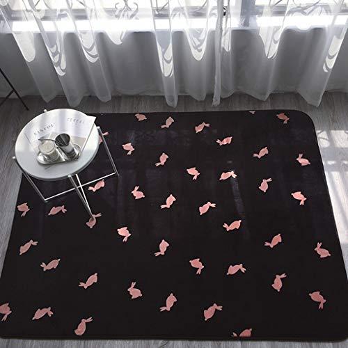 Rug nniu tappeto quadrato, tappeto corto tappeto antiscivolo per soggiorno camera da letto tavolino da caffè -15mm (colore : b, dimensioni : 80x180cm)