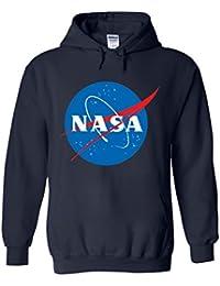 NASA Space Rocket Moon Space Astronaut Novelty White Men Women Damen Herren Unisex Hoodie Kapuzenpullover Verschiedene Farben
