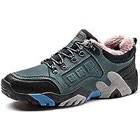 HUALQ D2051 Zapatos De Excursionismo De Invierno para Hombre Antideslizantes, Resistentes Al Desgaste, Zapatos De Exterior De Gran Tamaño para Hombres