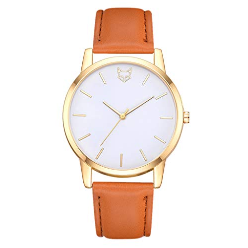 Orange G-string (DOLDOA Damen quarzuhr Neue Edelstahl Analog Quarz Runde Armbanduhr Armband für Damenmode (Orange))