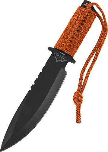 Messer mit feststehender Klinge und Nylontasche, Griff mit Nylonband
