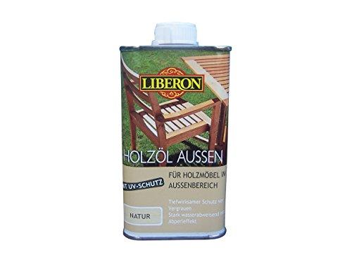250ml LIBERON Holzöl Außen, mit UV-Schutz, Natur (Outdoor-zeder Möbel)