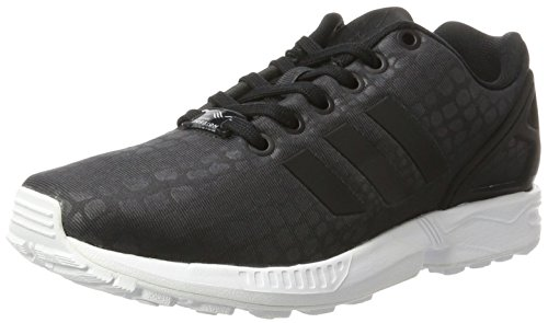 adidas ZX Flux, Scarpe da Ginnastica Basse Donna, Nero Core Black/Footwear White, 40 2/3 EU
