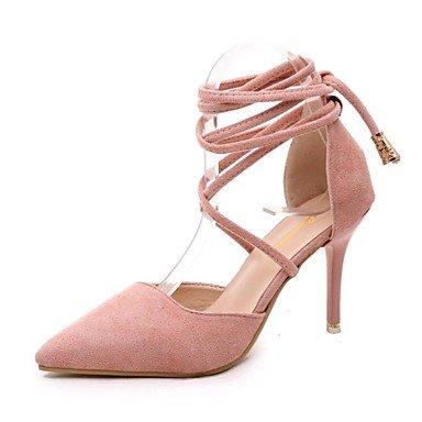 Zormey Les Talons Des Femmes Printemps Été Automne Hiver Chaussures En Daim Chaussures Club Bureau Extérieur &Amp; Carrière Casual Stiletto Heel Buckle Hollow-Out US5.5 / EU36 / UK3.5 / CN35
