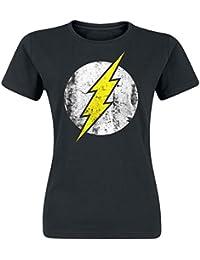 The Flash Logo Girl-Shirt schwarz