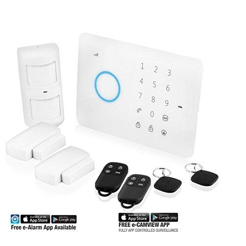 Eminent EM8610 Starter kit per sistema di allarme wireless su cellulari, controllato da smartphone, Bianco