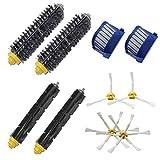 10PCS Bristle flexible brosse-tapette Armé Brosse filtre Kit de nettoyage pour iRobot 600 Mengonee
