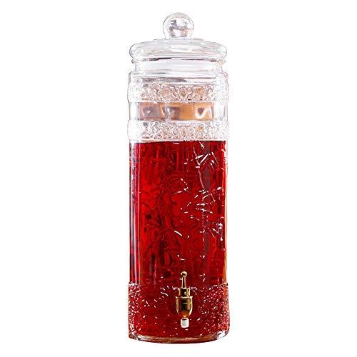 Lxyfms bottiglia di vino dispenser per bibite bevanda fredda succo di birra vino limonata vino bianco dispenser per caffè in vetro 5l / 7,5l / 10l distributore di bevande