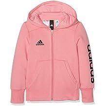 Adidas Yg Linear Fz Hd Sudadera, Niñas, color: Rostac (Roasa) /