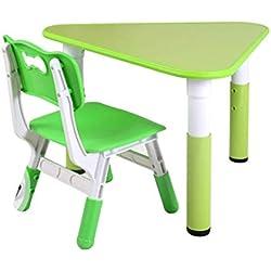 YSA Tables Basses Les Enfants étudient dans la Chambre des Enfants en apprenant à écrire Peinture Jeu de Table et chaises Ensemble de Table en Bois Triangle Table de Jardin d'enfants Meubles Tab