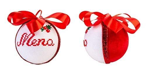 Palline di Natale personalizzate Creamando idea regalo regali personalizzati natale originali palle natalizie decorazioni palline di natale palline di natale con nome palline per albero di natale