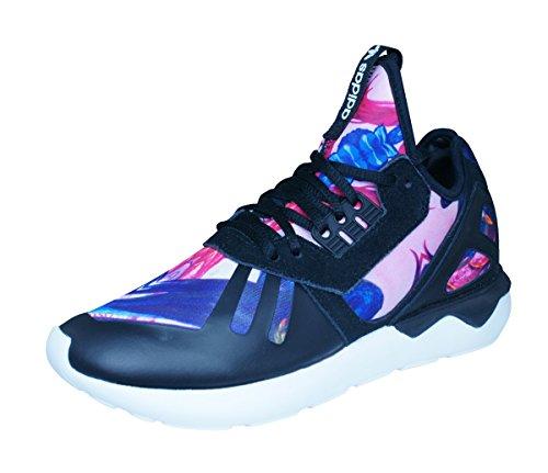 adidas Damen Tubular Runner Woman Low-top, schwarz/rosa, 39 1/3 EU - Adidas Womens Low Cut Sock