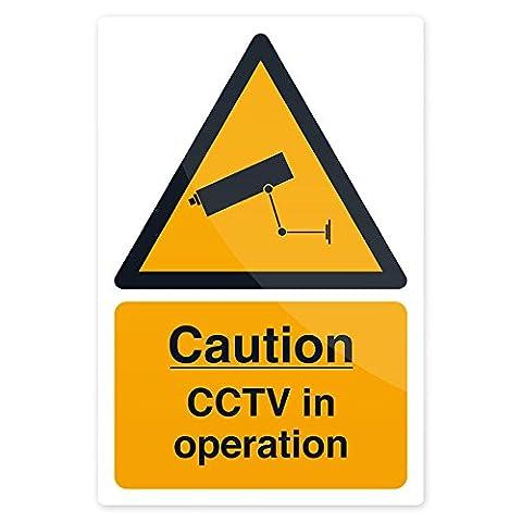 Fixman 684000 Pancarte Zone sous Vidéo Surveillance, Jaune