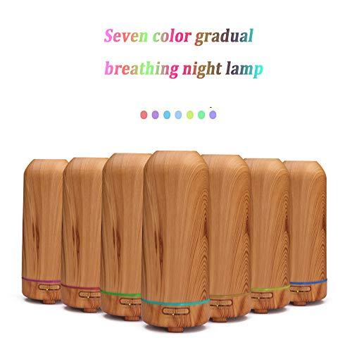 Z-SANMAO Mini-Bambus, der Diffusor des ätherischen Öls 100 ml Ultraschall-Luftbefeuchter mit 7 Farb-LED-Lichtern und wasserfreiem automatischen Abschalten Macht,D1