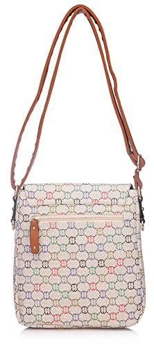 Big Handbag Shop - Borsa a tracolla donna (marrone)