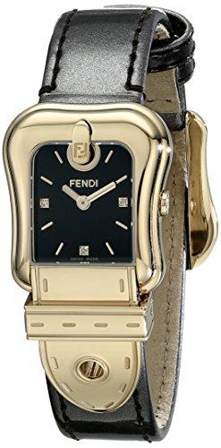 Fendi Women's F380421021D1 Analog Display Swiss Quartz Brown Watch