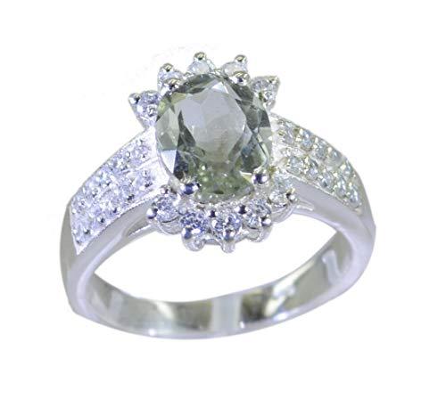 riyo handgefertigtes 925er Sterling Silber splendischen echten grünen Ring Geschenk 70 (22.3)