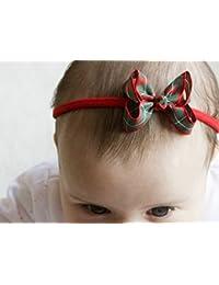 Golden haz Navidad Tartán bebé diadema–Tartán Boutique lazo hecho a mano diadema–Diadema para bebé para adultos