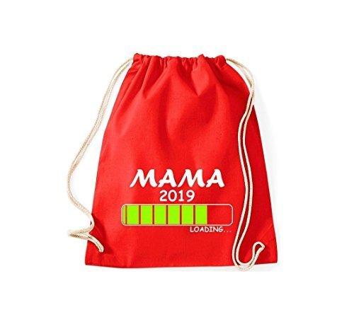 Shirtstyles Gym Sack Turnbeutel Loading Mama 2019 Rot