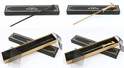 ry Potter Wand Replicas: Harry Potter + Lord Voldemort - Prop Collectible Set (Kid's Voldemort Kostüme)