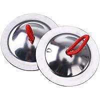 ROSENICE Mini Platillos de dedo Música Ritmo Fabricante 5.5cm para niños niños jugando 1 par