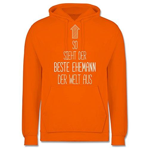 Typisch Männer - So sieht der beste Ehemann der Welt aus - Männer Premium Kapuzenpullover / Hoodie Orange